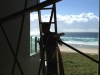 Beach front ladder work