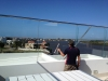 Cleaning Rooftop Glass Fencing
